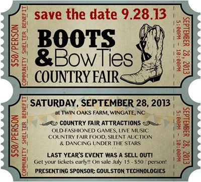 BOOTS and BOWTIES social theme