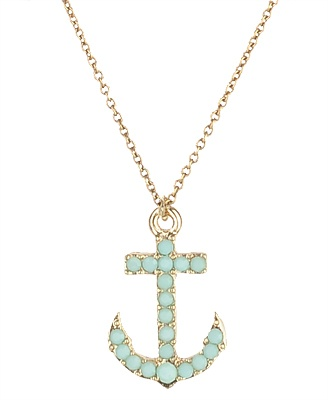 AnchorForever 21, Anchors Necklaces Tiffany, Jewelry, Part Gamma, Anchor Necklace, Opaque Anchors, Cute Anchors, Turquoise Anchors, Mint Anchors