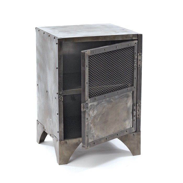 "Vintage Steel Shoe Accent Cabinet - Antique Home A0-460 Vintage Steel Shoe Accent CabinetSKU: A0-460Manufacturer: Antique HomeCategory: Accent FurnitureMaterial: SteelShape: RectangleFinish: RusticType: DecorStyle: TransitionalNumber Of Shelves: 1Dimensions: 18.5"" L x 16.5"" W x 26"" H"
