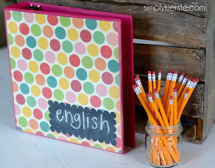 Chalkboard Binder Labels   simplykierste.com