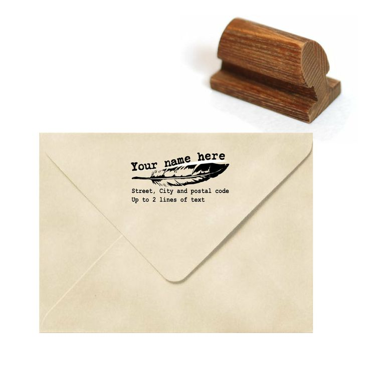 how to return address wedding envelopes%0A Custom address stamp  Return address stamp  Personalized stamp  Feather  stamp  Custom logo stamp  Business card Stamp  Invitation stamp  A