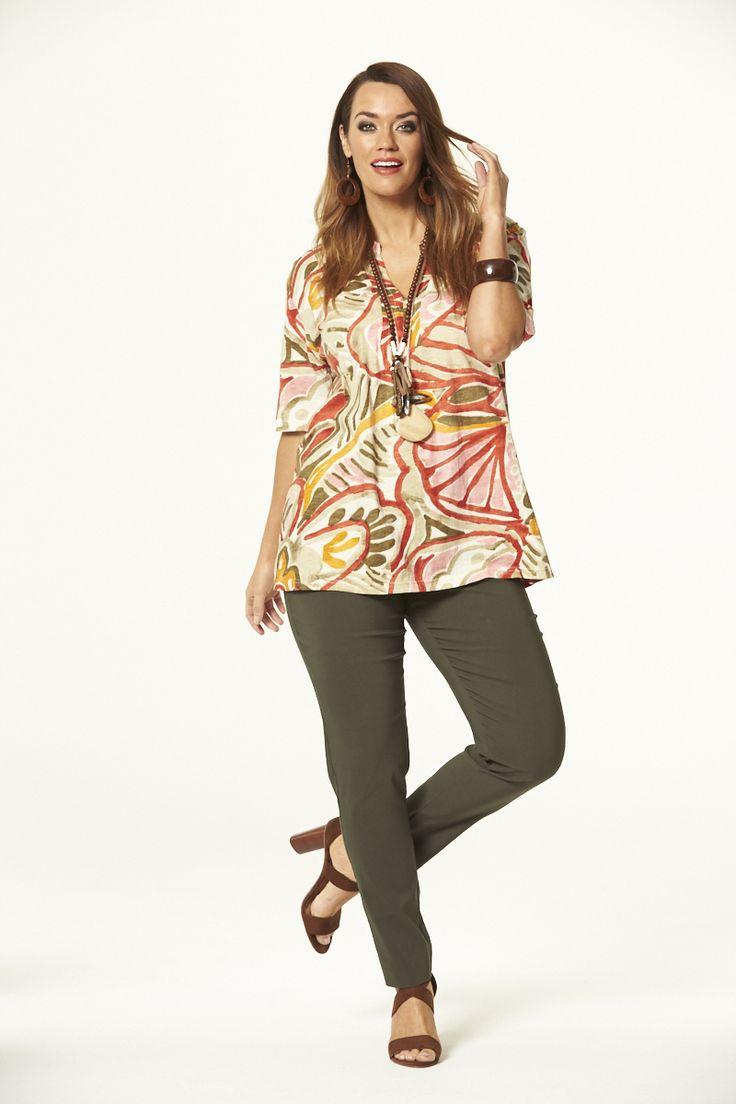 Peachy Mandarin Top  #mysize #plussize #fashion #plussizefashion #spring #newarrivals #outfit