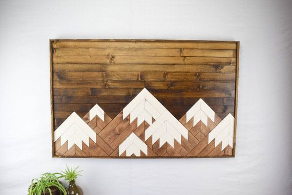 Check out this item in my Etsy shop https://www.etsy.com/listing/272758116/wood-wall-art-modern-mountain-range-wood