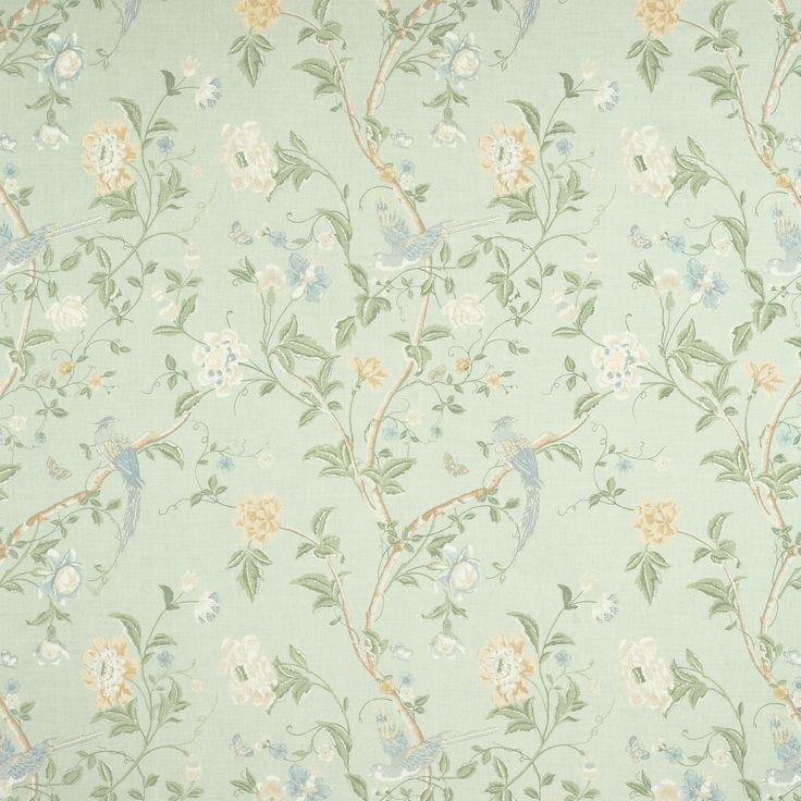 Summer Palace Cotton/Linen Fabric Eau De Nil