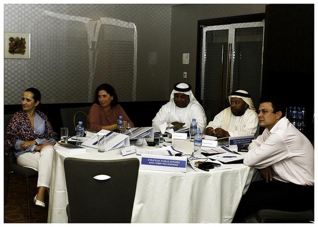 Planning a public affairs campaign in October 2011's training seminar in Dubai.