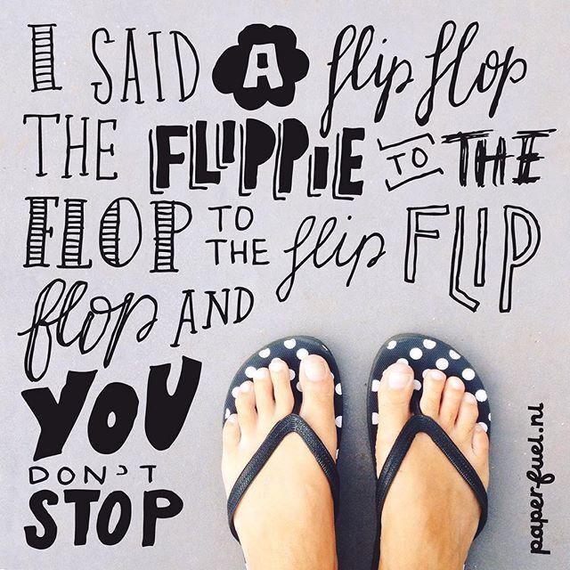 Flip flop delight... ;-) #lettering #handlettering #flipflop #paperfuel