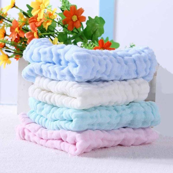 4 Pack Comfy Solid Towel Set For Baby Cotton Baby Bibs Washing Clothes Cotton Bath Towels