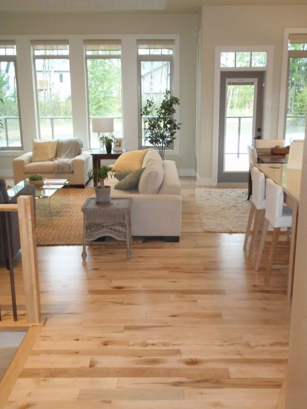 This whole lighter colored look. Paler stained concrete, paler warm grey.   hardwood floors | Hardwood Flooring. love how the light wood makes everything look brighter! by Seriously?