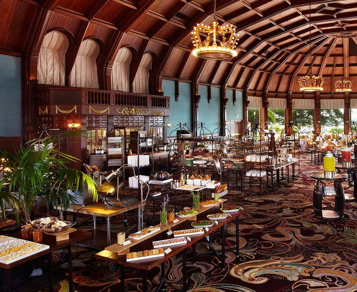 Hotel del Coronado's Famous Sunday Brunch in the Crown Room - a 125 year old famous hotel with great restaurants!