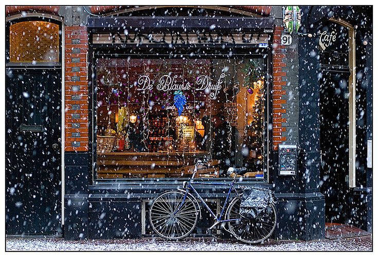 Snow in A'dam by Aleksandr Stzhalkovski, via 500px