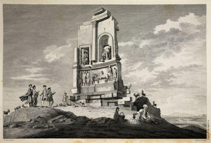 Το μνημείο του Φιλοπάππου (με πλανόδιο καφετζή). James Stuart (1713-1788) and Nicholas Revett (1720-1804), The antiquities of Athens measured and delineated by James Stuart ... and Nicholas Revett. London: Printed by J. Haberkorn, 1762-1816, III, Chapt. V. Πηγή: www.lifo.gr