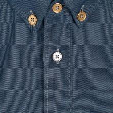 Paul Smith Shirts - Navy Mini Diamond Jacquard Shirt