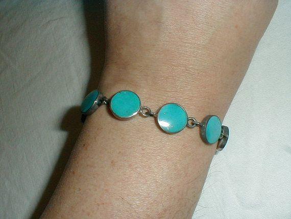 vintage sleeping beauty turquoise sterling by qualityvintagejewels