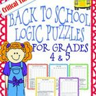 I have created 5 logic puzzles that would be appropriate for logic puzzle ADVANCED beginners. They each have a back to school theme. I have always ...