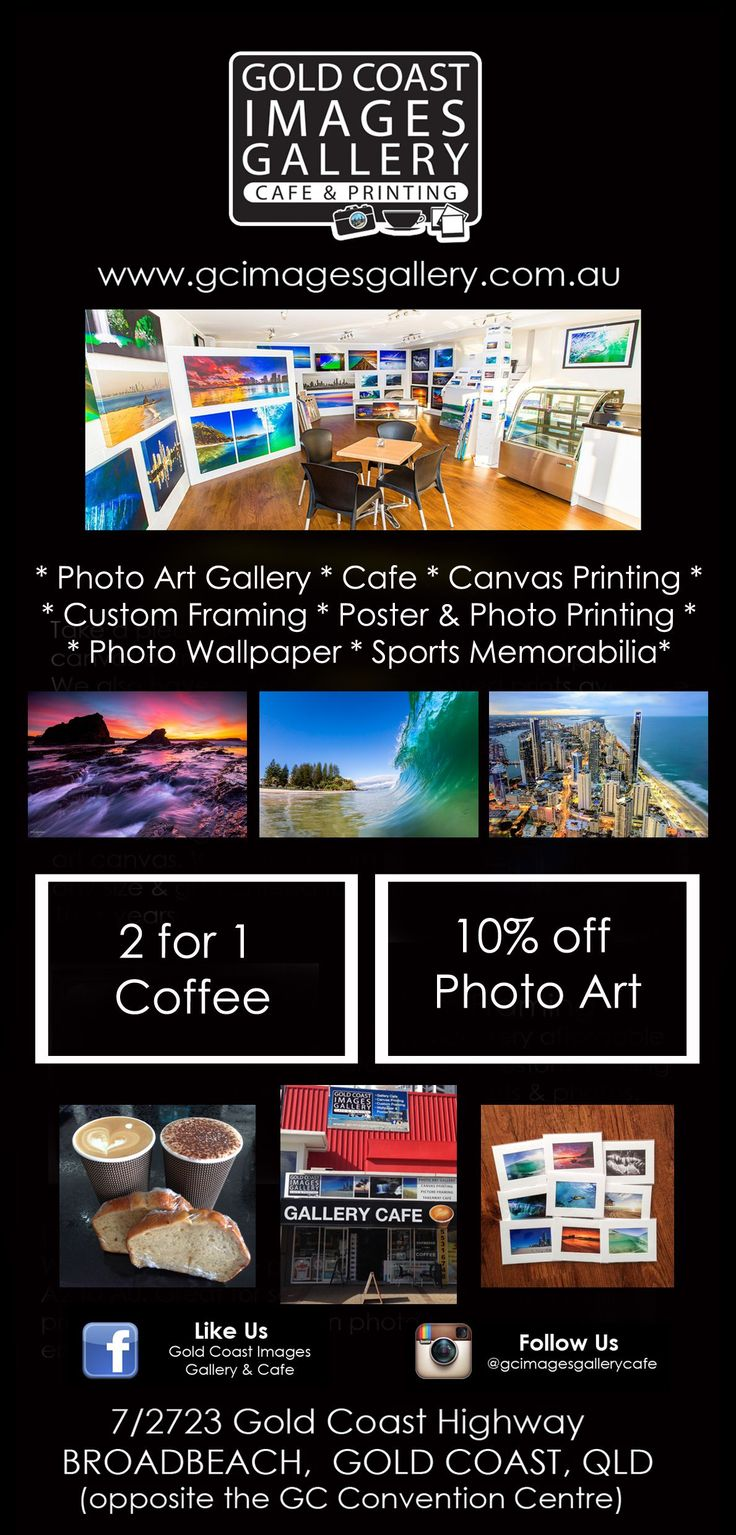 Featuring some of the Gold Coast's Finest photographic images taken by local photographers, Gold Coast Images Gallery allows you to take a piece of the Gold Coast home with you through canvases & matted & framed prints.