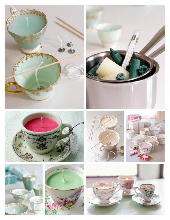 tea cup candles