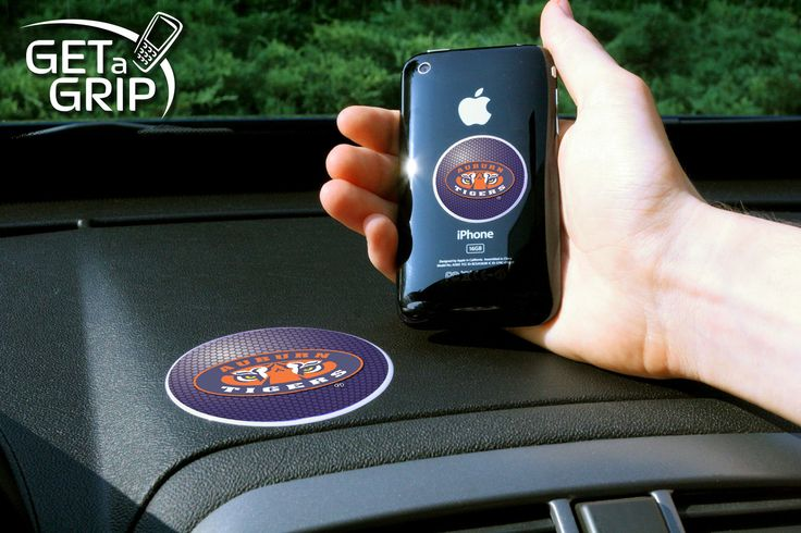 """Auburn University Get a Grip - Let your favorite team get a grip on your device! Never wonder where your phone is again. This new product innovation utilizes two polymer grips that adhere to each other leaving you hands free. UAV Resistant. No residue left behind.FANMATS Series: GETAGRIPTeam Series: Auburn UniversityProduct Dimensions: small 1.5"""" / large 3""""Shipping Dimensions: 8""""x6""""x0.5"""". Gifts > Licensed Gifts > Ncaa > All Colleges > Auburn University. Weight: 0.25"""