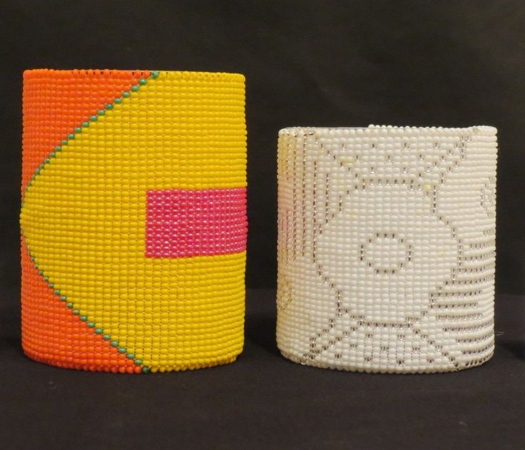 Handmade beaded cuffs by South African Artist at Kim Sacks Gallery Johannesburg