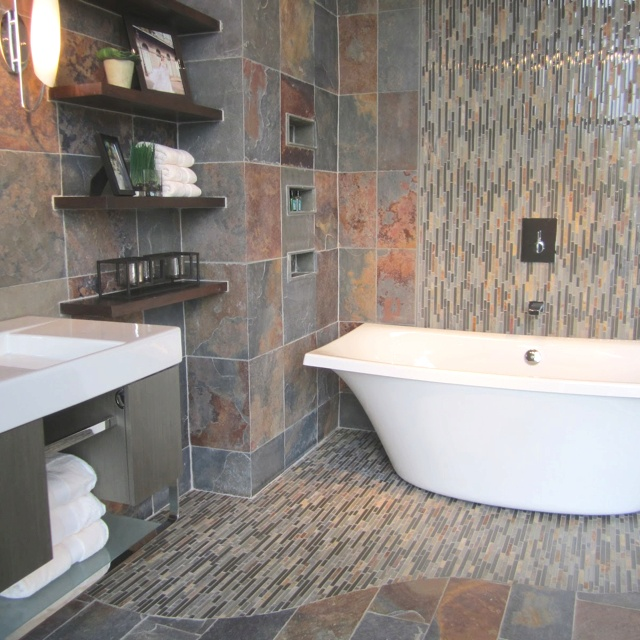 Slate Bathroom Modern Bathrooms And Rustic: 17 Best Images About Master Bathroom On Pinterest