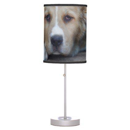 Central Asian Shepherd Dog Desk Lamp - dog puppy dogs doggy pup hound love pet best friend