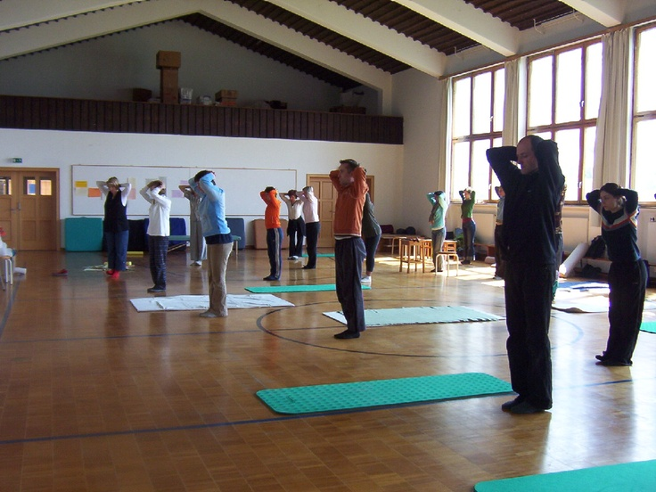 This is the light-filled, beautiful training space for the Chiemsee Feldenkrais® Training Programs that Jerry Karzen directs. The training is on an island in  the middle of a lake in southern Bavaria, Germany.