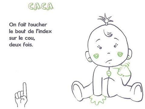 Gut bekannt Les 98 meilleures images du tableau Bébé langue de signes sur  PW82