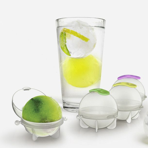 Ice Ball Moulds Set Of 4 AAAHHHH. I'd use these EVERY day! I like how the lid closes cuz I can't put ice trays in the freezer without spilling them!!! They NEED LIDS!
