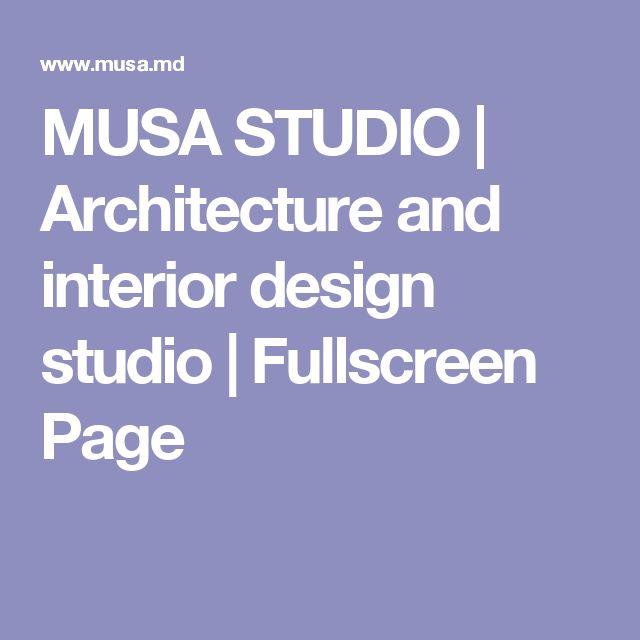 MUSA STUDIO | Architecture and interior design studio | Fullscreen Page