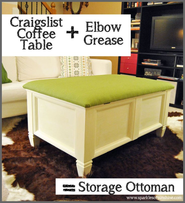1000 ideas about storage ottoman coffee table on pinterest ottomans ottoman coffee tables Craigslist coffee tables