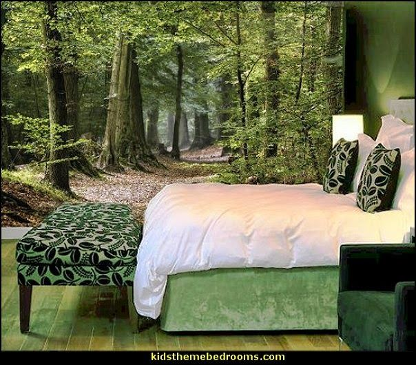 25 best ideas about tree wall murals on pinterest wall for Enchanted forest bedroom wall mural