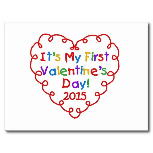 Heart 1st Valentine's Day 2015 Post Cards - #zazzle