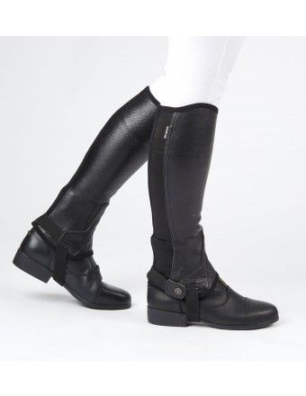 Dublin Flexi Leather Half Chaps Ii Adults