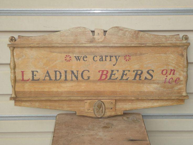 Old Early Original Rare Schaefer Beer Wood Tavern Bar Sign Vintage Antique