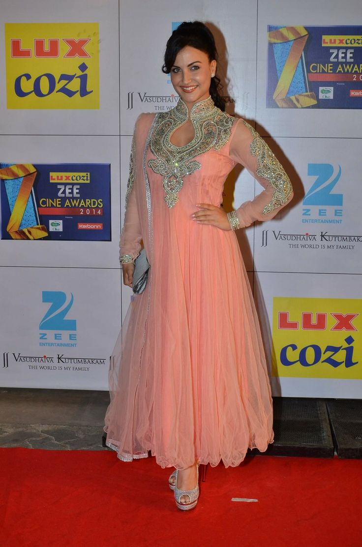Elli Avram at Zee Cine Awards (Feb) 2014  (Photo: IANS)