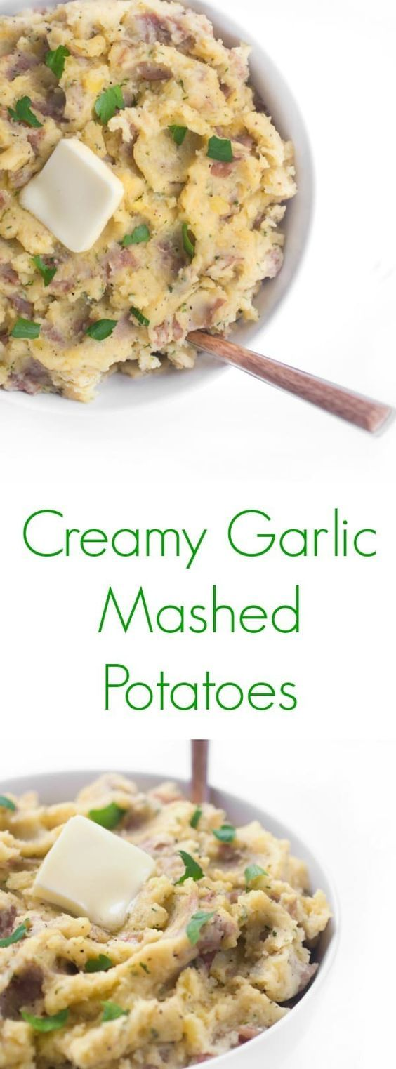 The ultimate crowd-pleasing side dish recipe, Garlic Mashed Potatoes come together in less than 10 minutes and are made with creamy Greek yogurt.