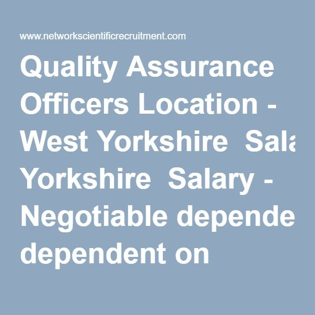 Quality Assurance Officers Location - West Yorkshire  Salary - Negotiable dependent on experience  Do you want to work for a leading UK pharmaceutical manufacturing company undergoing expansion? Are you degree educated with experience working in a GMP regulated environment? Do you have a keen eye for details with exceptional organisational skills?  Our client, a leading pharmaceutical manufacturer is looking to recruit two individuals into their Quality Assurance Department.  The first…