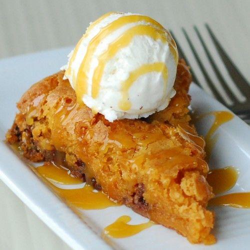 Butterscotch Brownie Pie