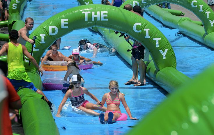 Slide The City Coming to Nashville - Looks so fun. We can't wait to slide!