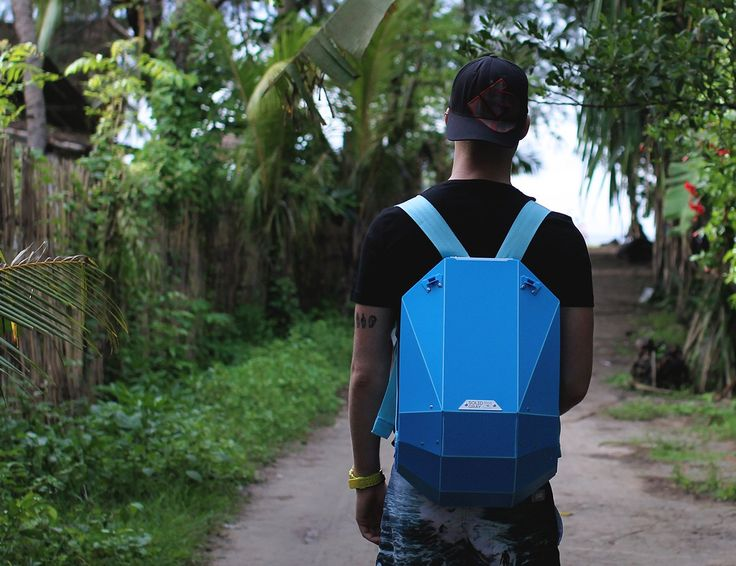 The super strong shell is made from an advanced polymer plastic. #useful #backpack