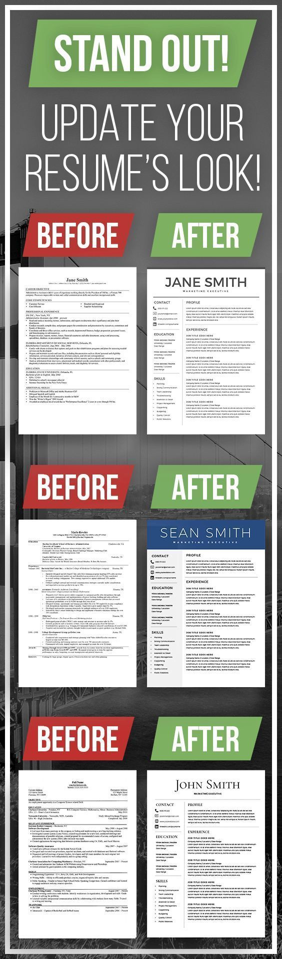 Resume Templates Bundle, 3 Professional Resume Templates, Resume Bundle, Free Cover Letter, macbook resume, CV Template, Instant Download