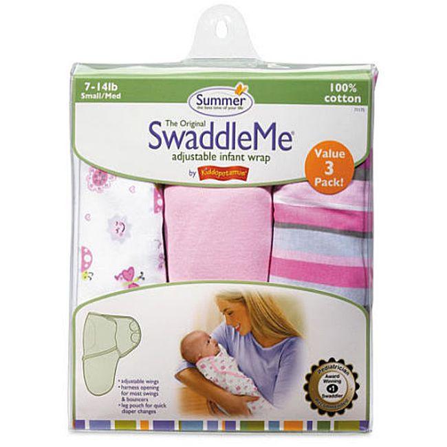 Summer Infant Girl's Girly Bug SwaddleMe Blankets