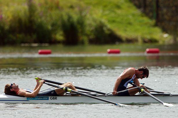 Heartbreak on the lake: Devastated Team GB duo narrowly miss out on Olympic rowing gold after dramatic restarted race