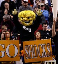 wichita state and kansas basketball game march madness | PORTLAND, OR - MARCH 15: The Wichita State Shockers mascot and ...