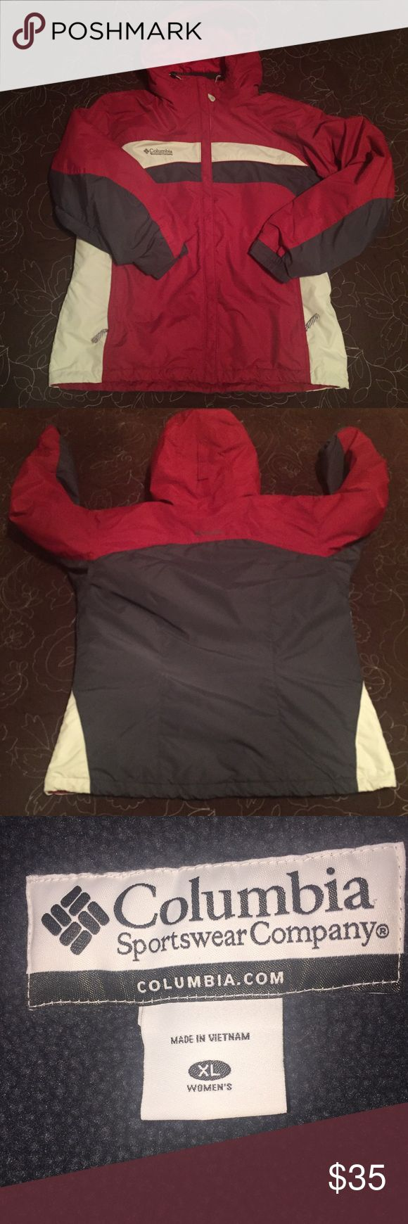 "Columbia Red Parka Womens Sz XL Xtra Large Columbia Red Parka Womens Sz XL Xtra Large. Faint defect on front right bottom, please see pictures. Measurements  Length 30"" Armpit to armpit-48"" Columbia Jackets & Coats"