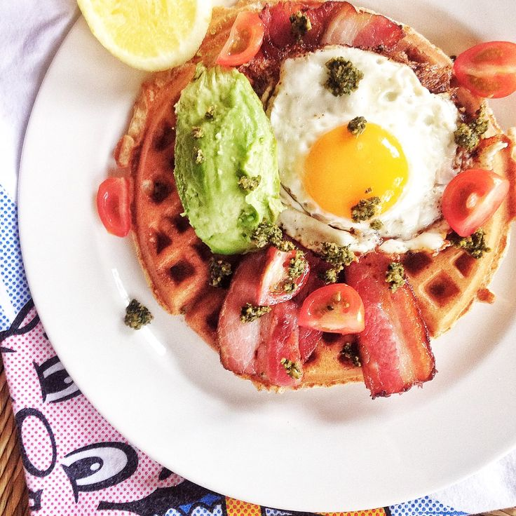 Savoury waffles! Overnight spelt waffle recipe is on the blog!