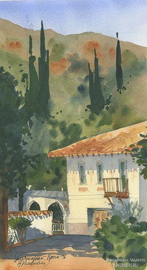 Crimea, watercolor, paper