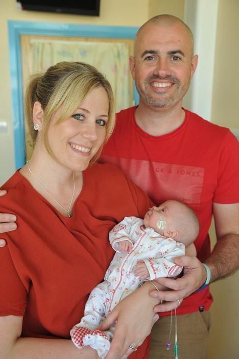 17 viikon ikäisenä Mollie on vihdoin pääsemässä sairaalasta kotiin vanhempiensa Stephanien ja Jamesin kanssa.
