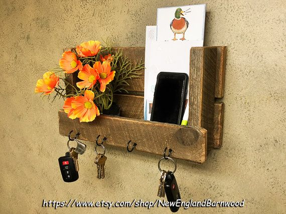 MAIL ORGANIZER Letter Holder Key Organizer by NewEnglandBarnwood