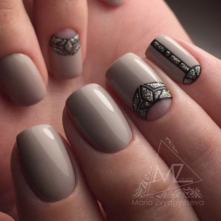 Accurate nails, April nails, Beautiful beige nails, Beige nail art, Beige nail polish, Delicate beige nails, Delicate nails, Nail designs for short nails