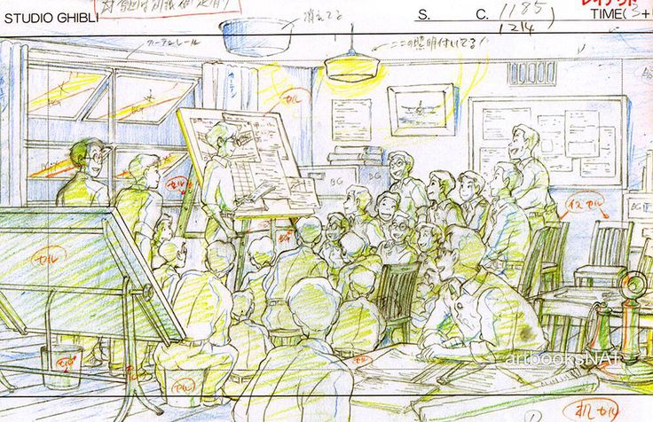The Wind Rises Studio Ghibli Layout Designs